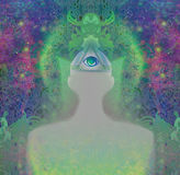 Man with third eye Stock Images