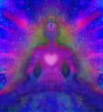 Man with third eye,. Psychic supernatural senses Royalty Free Stock Images