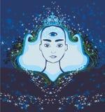 Man with third eye, psychic supernatural senses. Vector Illustration vector illustration