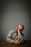 Man in thoughts. Dreamer. Royalty Free Stock Photography