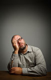 Man in thoughts. Dreamer. Royalty Free Stock Photos