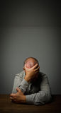 Man in thoughts. Expressions, feelings and moods Stock Photo