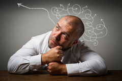 Man in thoughts. Royalty Free Stock Image