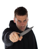 Man threatening with knife Royalty Free Stock Photography