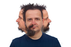 Man with three faces Royalty Free Stock Photo