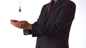 Man throwing a bulb stock footage