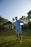 Man throwing football. Stock Photos