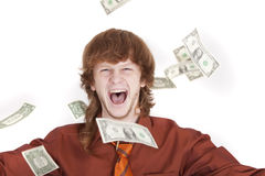Man throwing money Royalty Free Stock Photos