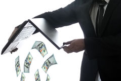 Man throwing money Royalty Free Stock Photo
