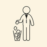 Man throws garbage. Vector illustration. Stock Photo