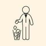 Man throws garbage. Vector illustration. Man throws garbage. Icon Vector illustration Stock Photo