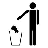 Man throws in the trash car Royalty Free Stock Photos
