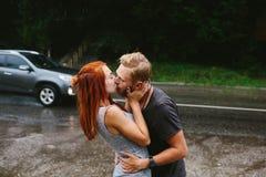 Man throws up his girlfriend Stock Photos