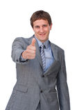 A man with the thumb Royalty Free Stock Images