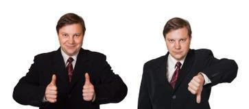 Man and thumb gesture Stock Photos
