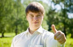 Man with thumb up Stock Photos