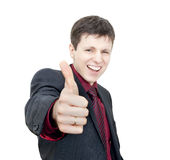Man with Thumb Up Royalty Free Stock Photos
