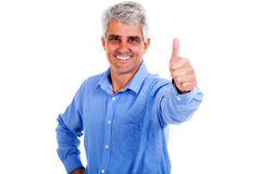 Man thumb up Stock Photo