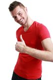 Man with thumb Royalty Free Stock Images