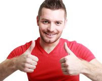 Man with thumb Stock Image