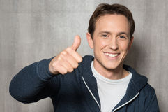 Man With Thumb Up Sign Royalty Free Stock Photography