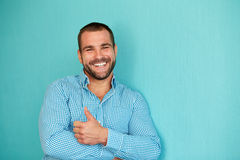 Man with thumb up on Royalty Free Stock Photo