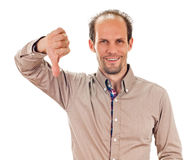 Man thumbs down Royalty Free Stock Image