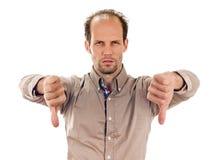 Man thumbs down royalty free stock image