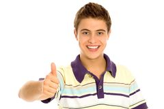 Man With Thumbs Up Stock Photos