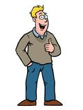 Man with thumbs up. Man in casual clothing smiling and holding his thumbs up royalty free illustration