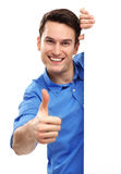 Man with Thumbs Up Stock Image