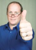 Man with thumbs up Royalty Free Stock Images