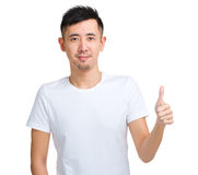 Man with thumbs up gesture Stock Photos