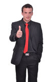Man thumbs up, it's great success Royalty Free Stock Photo