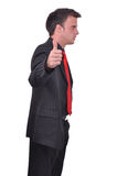 Man thumbs up, it's great success Stock Images