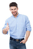Man with Thumbs Up Stock Photography