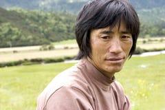 man tibet Royaltyfri Foto