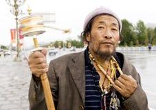 man tibet Royaltyfri Fotografi