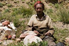 man tibet Royaltyfria Foton