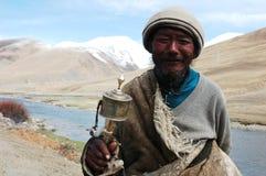 man tibet Arkivbild
