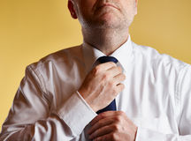 Man and Tie Royalty Free Stock Photo
