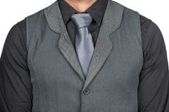 Man With Tie grey and black shirt royalty free stock photos