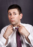 Man with tie Royalty Free Stock Photography