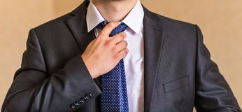 Man with a tie Stock Photography