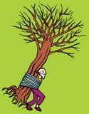 man tied to tree Στοκ φωτογραφίες με δικαίωμα ελεύθερης χρήσης