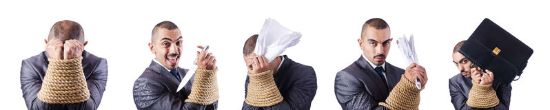 The man tied up Stock Photos