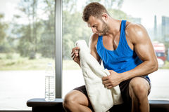 Man tired after workout Royalty Free Stock Photos