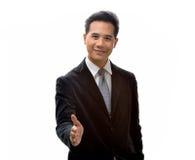 Man to handshake Stock Image