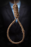 Man about to hang himself in the noose Royalty Free Stock Image