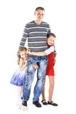 Man  to his cute children Stock Image